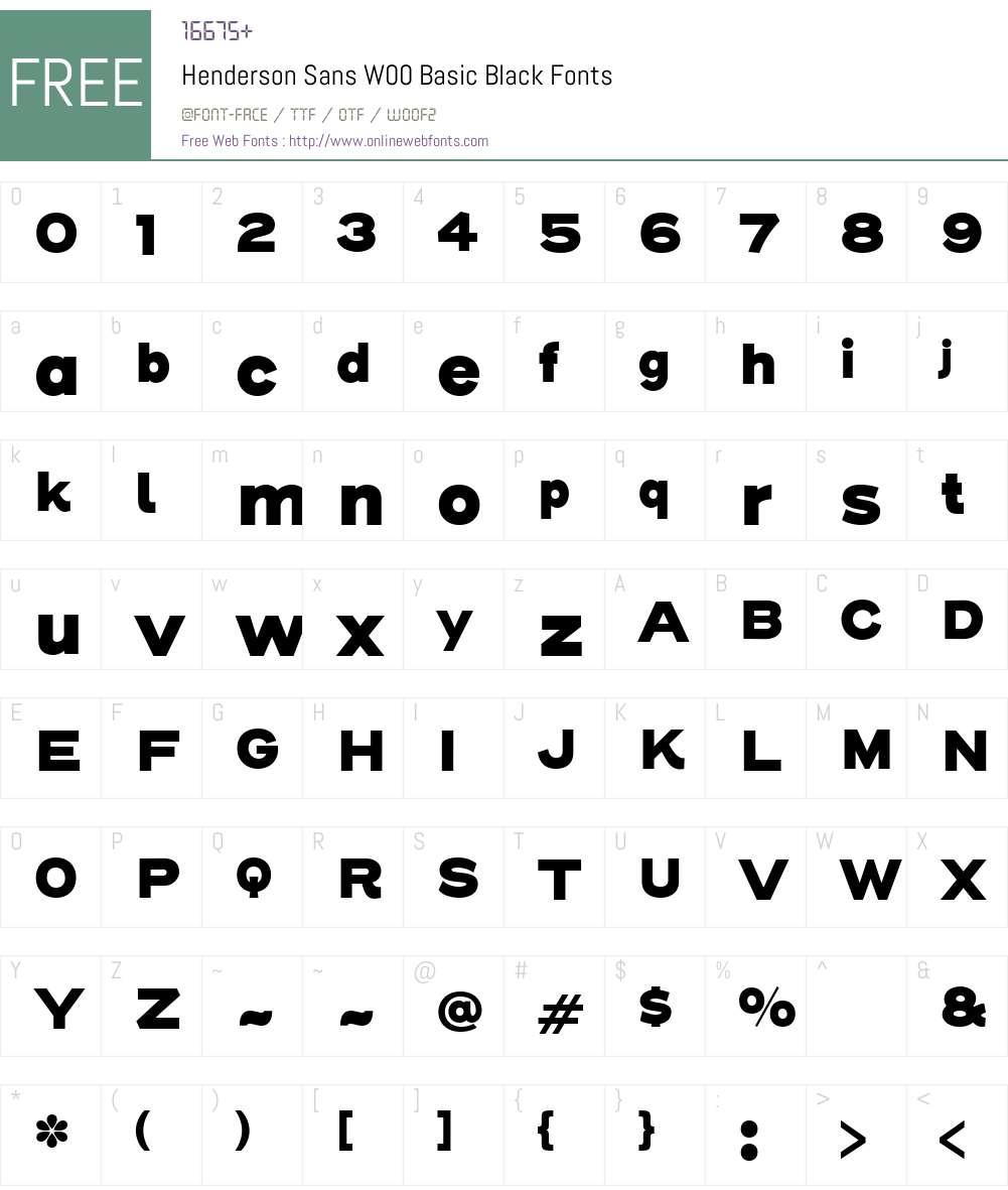 Henderson Sans Font Screenshots