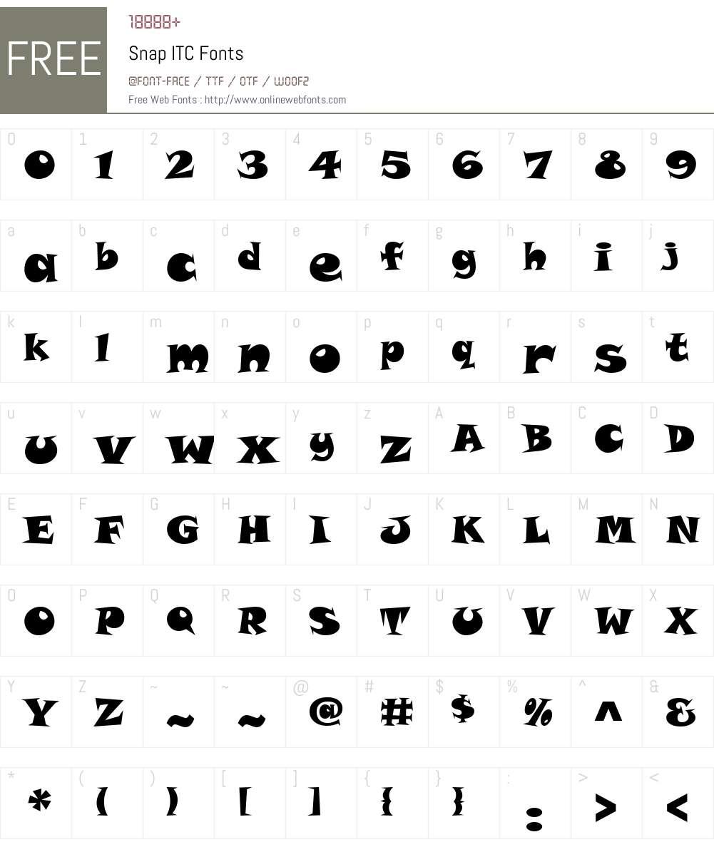 Snap ITC Font Screenshots