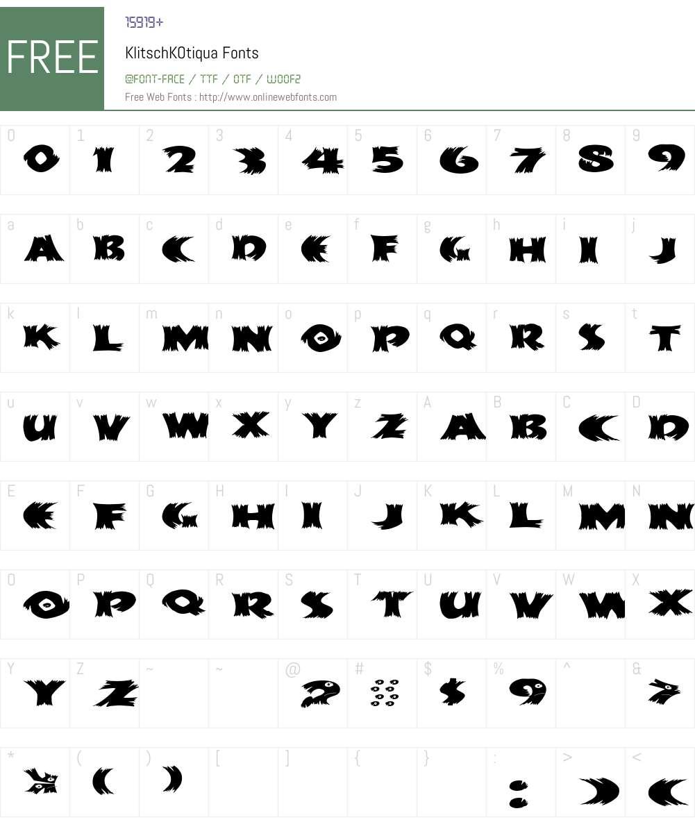 KlitschKOtiqua Font Screenshots