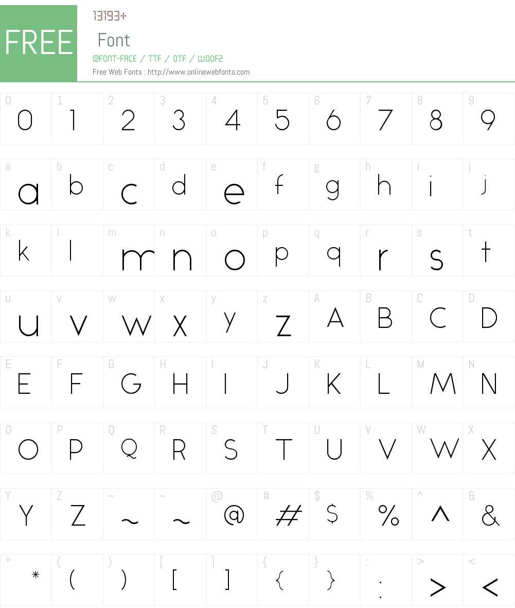 Alcubierre Font Screenshots