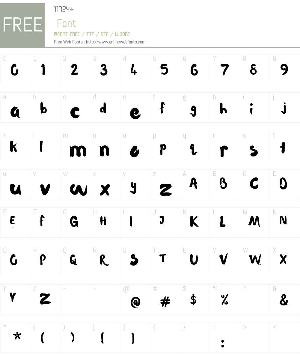Waterlily Font Screenshots