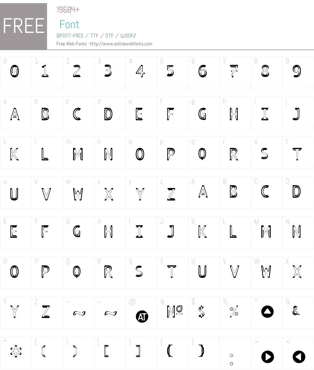 TECHNOIRE Font Screenshots