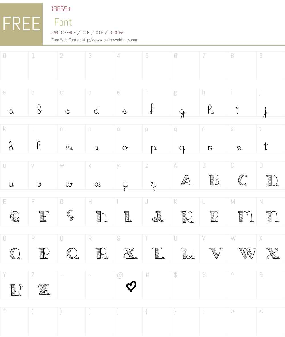 Jack and the Beanstalk Font Screenshots