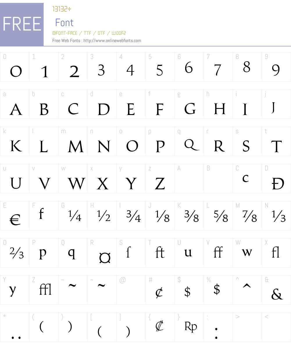 ClassicaExpertLightW90-Rg Font Screenshots