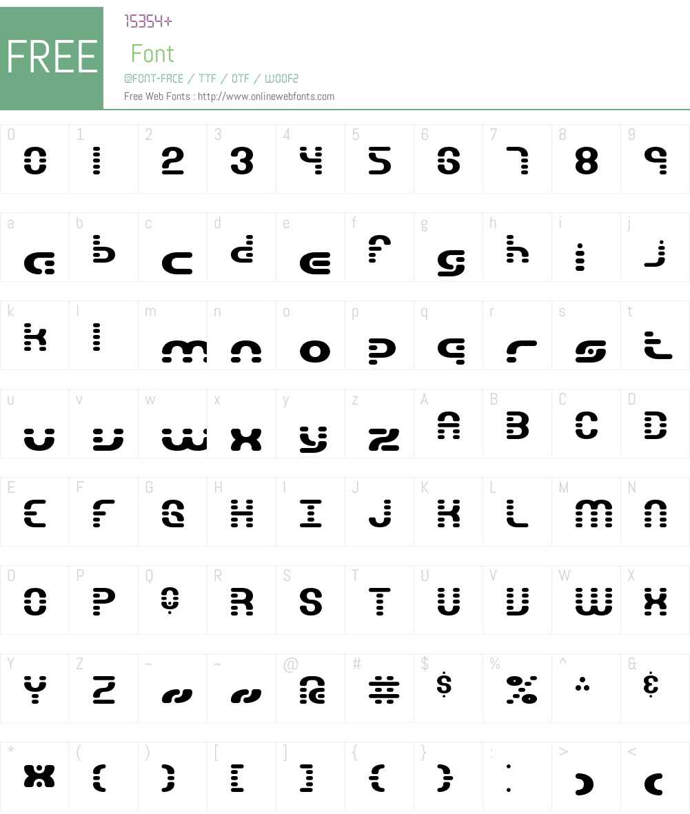 Gravitate Segments BRK Font Screenshots