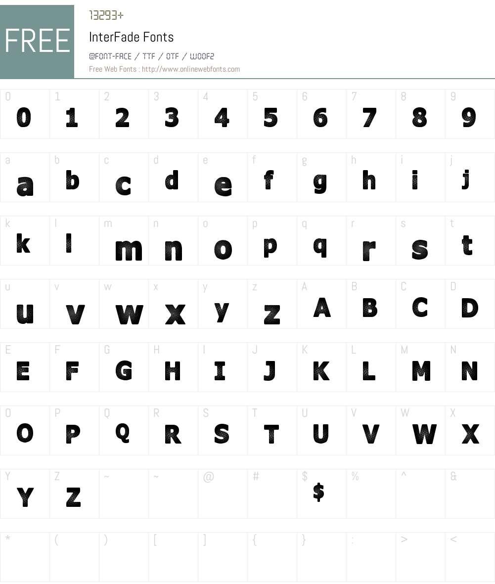 InterFade Font Screenshots