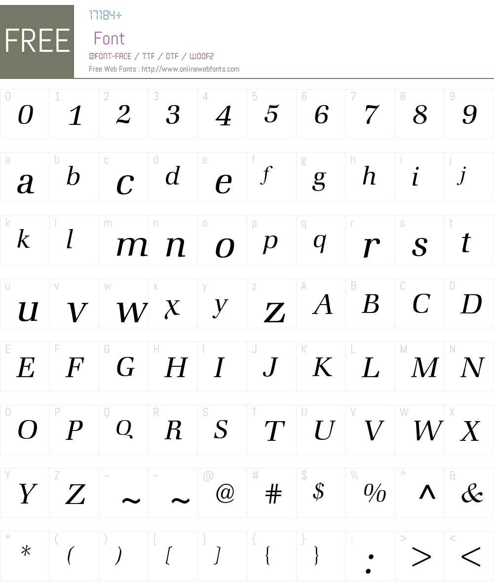 Zapf Book BQ Font Screenshots