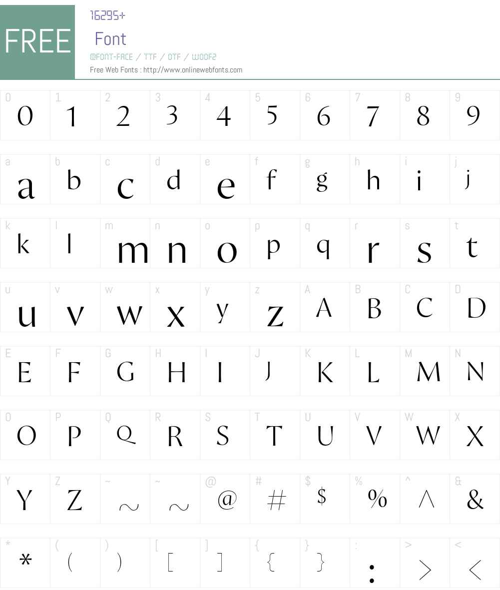 Proza Display Font Screenshots