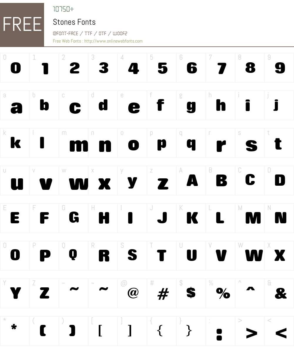 Stones Font Screenshots