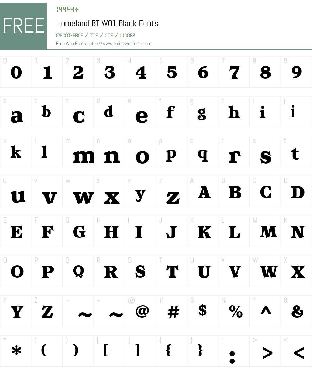 HomelandBTW01-Black Font Screenshots
