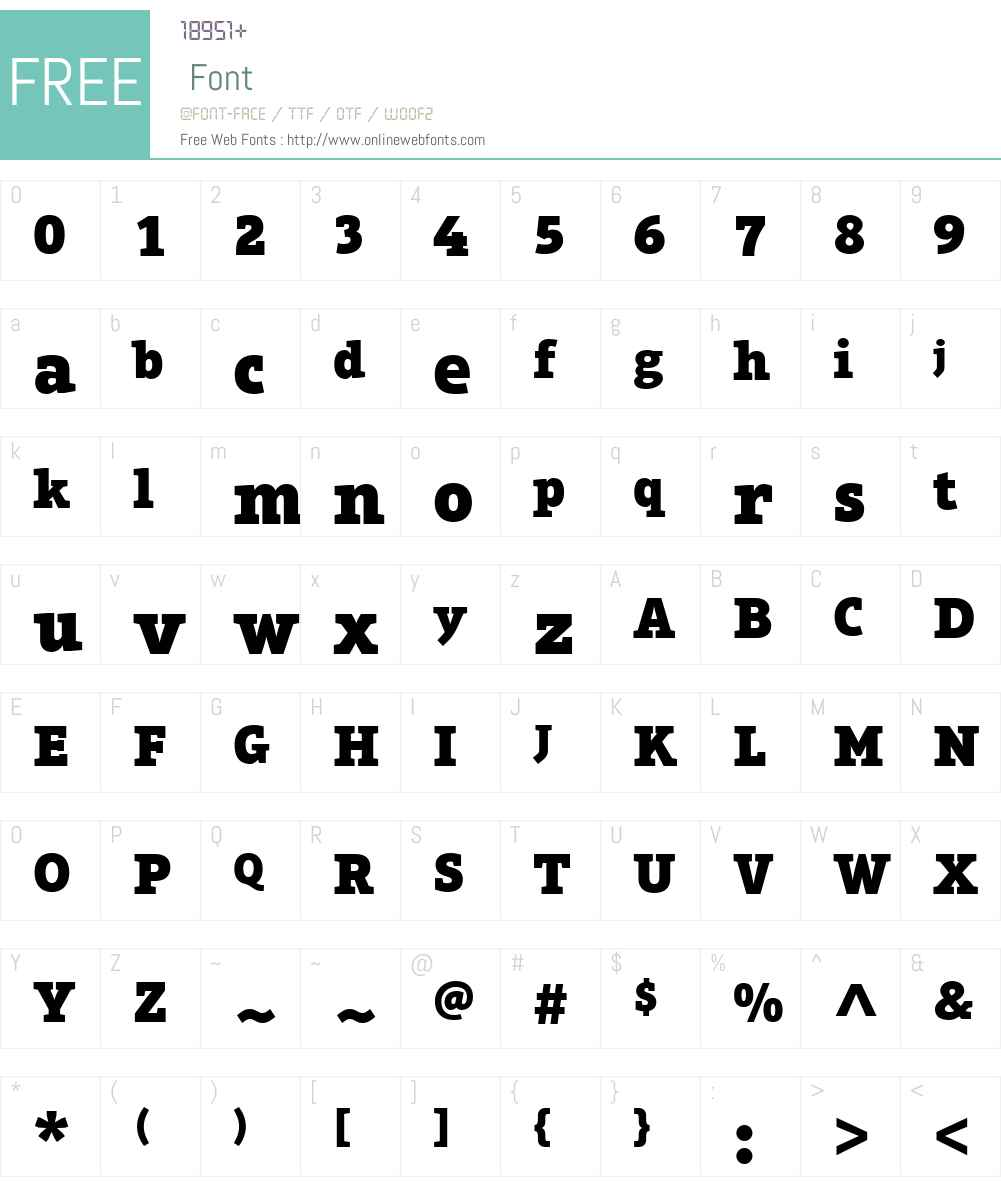 Aptifer Slab Font Screenshots