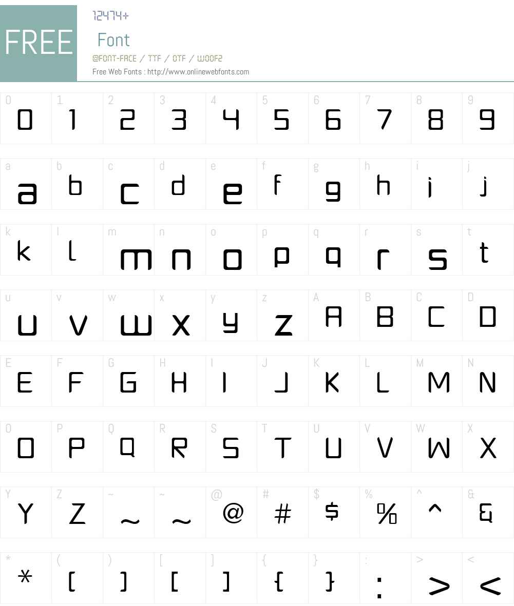 PlatformOneW00-Regular Font Screenshots