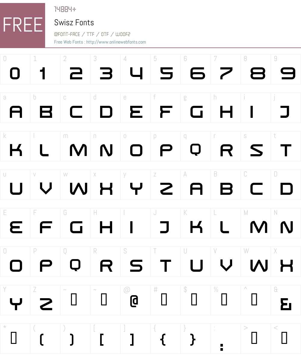 Swisz Font Screenshots