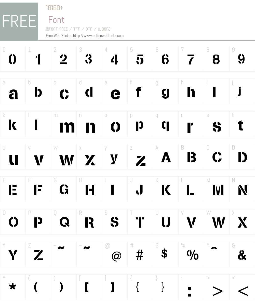 Stencilia-A Font Screenshots