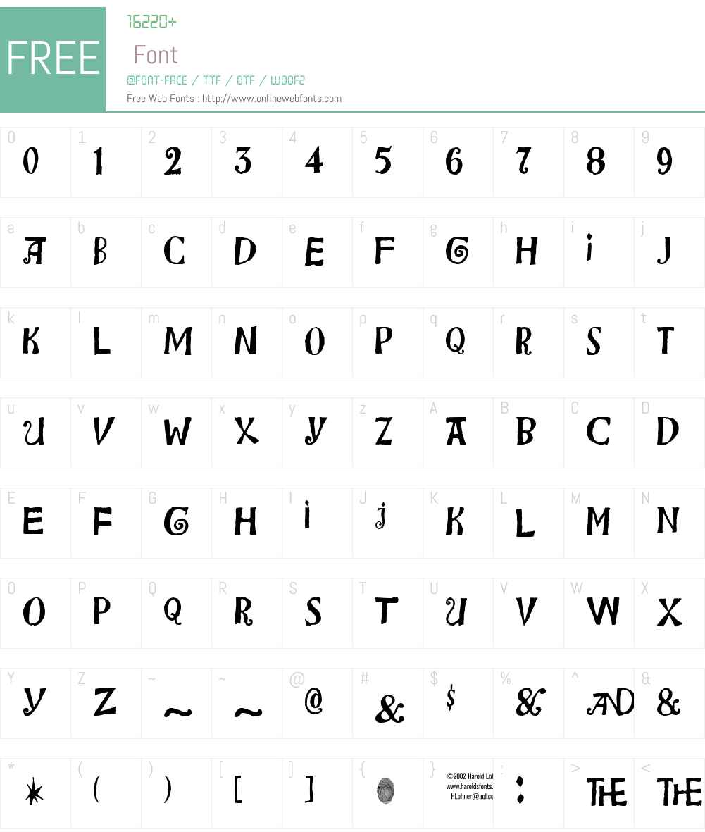 Bensgothic Font Screenshots