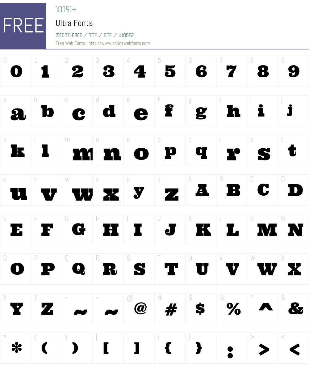 Ultra Font Screenshots