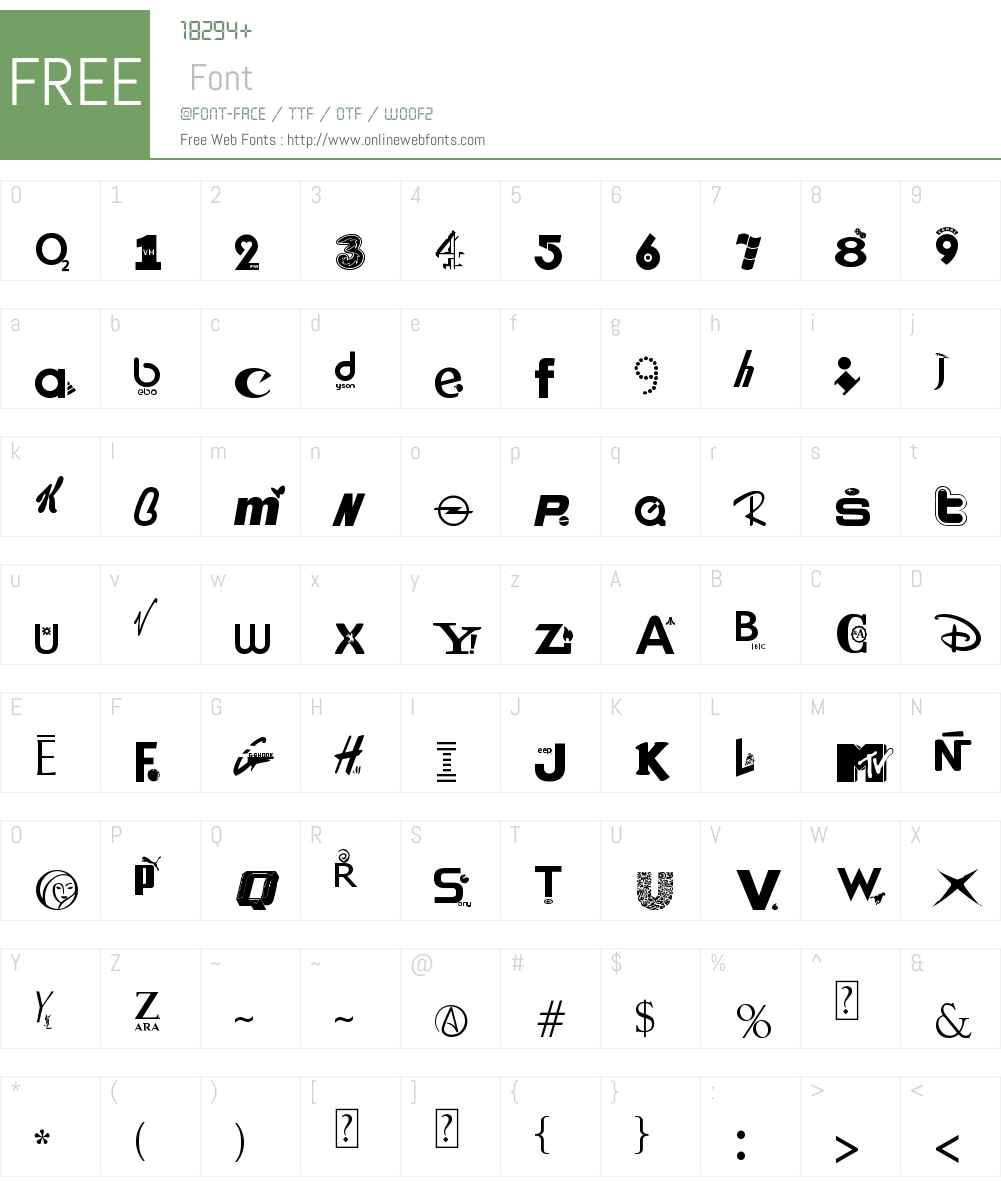branded Font Screenshots