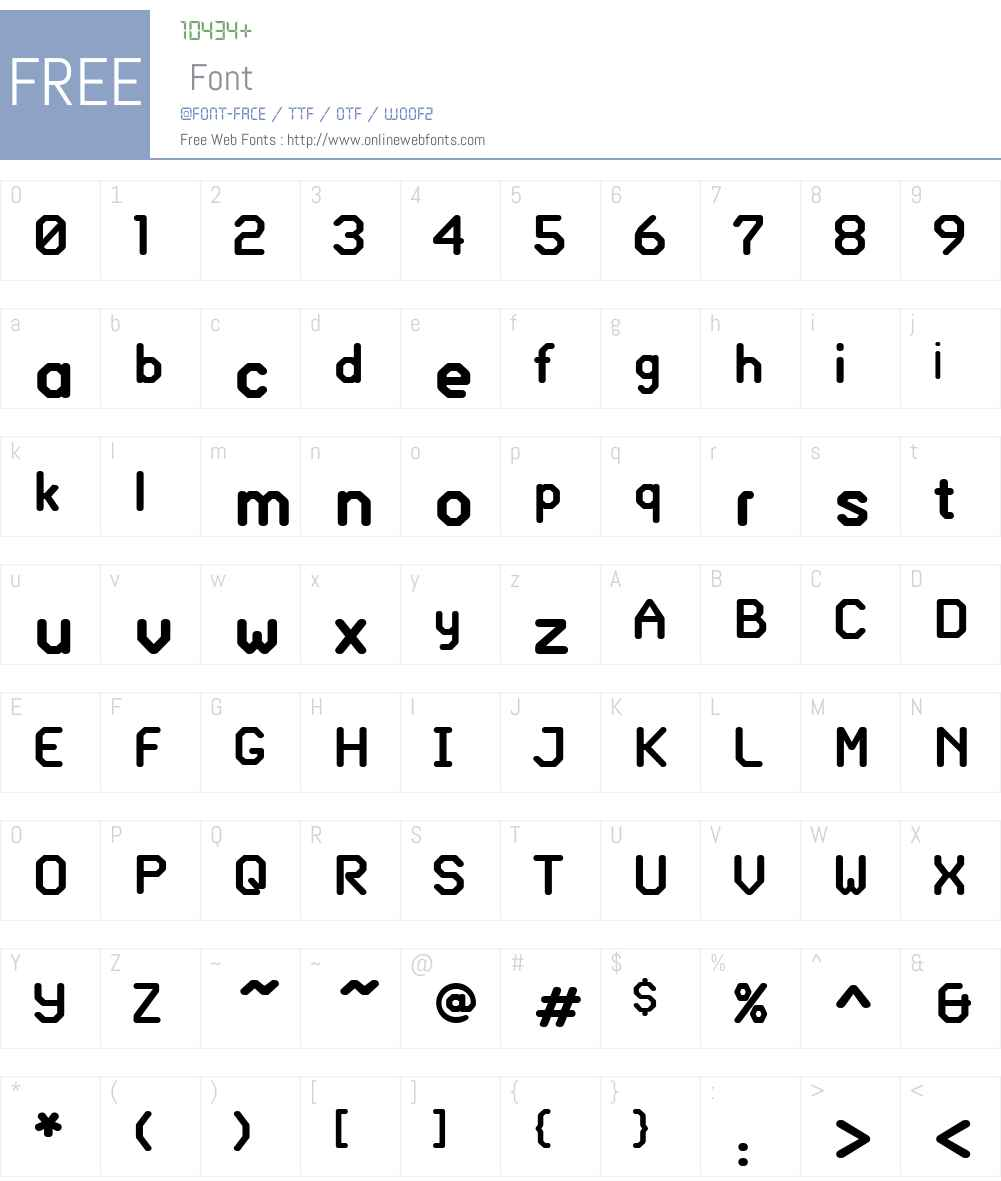 Glass Gauge Font Screenshots