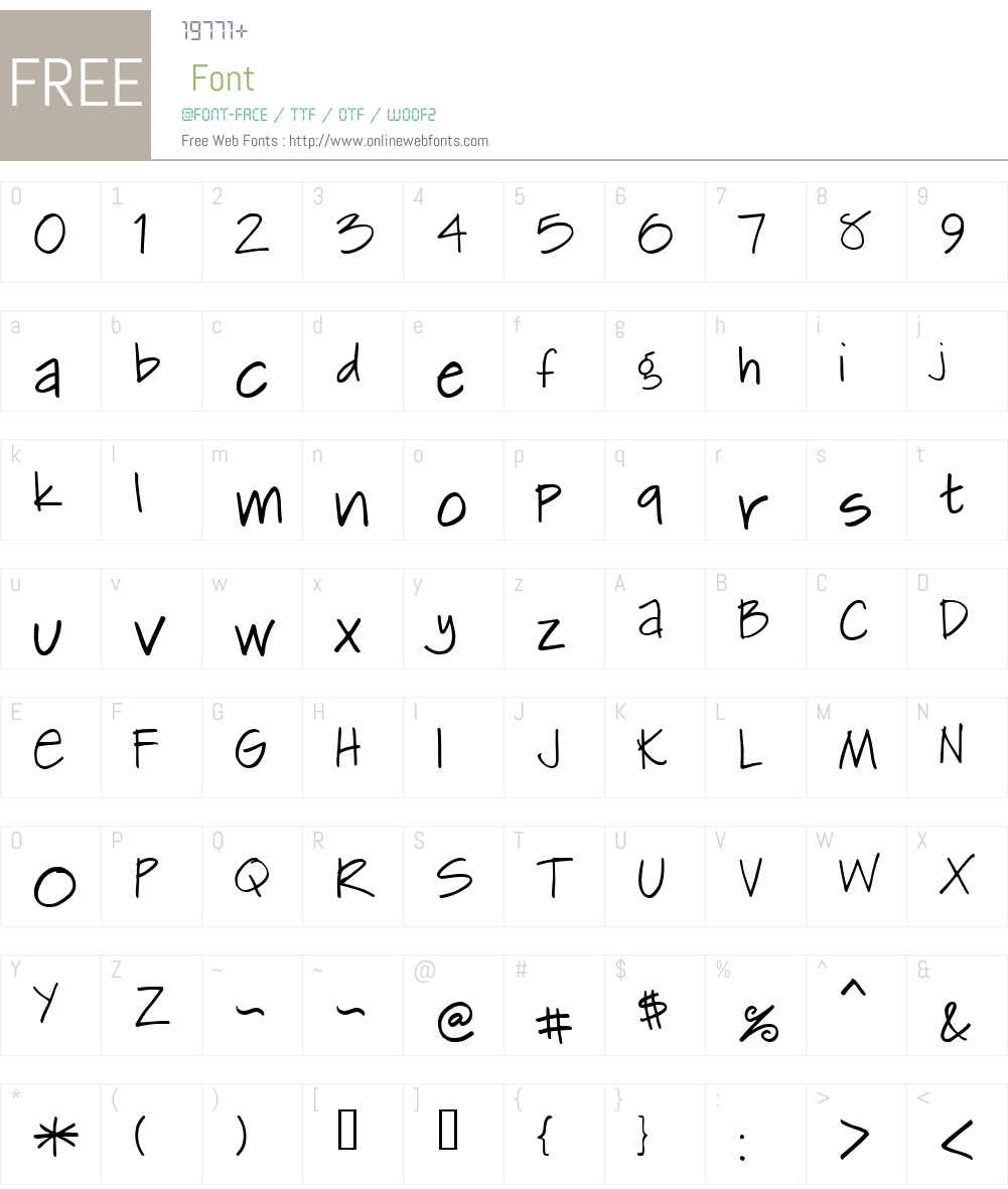 Kemie Font Screenshots
