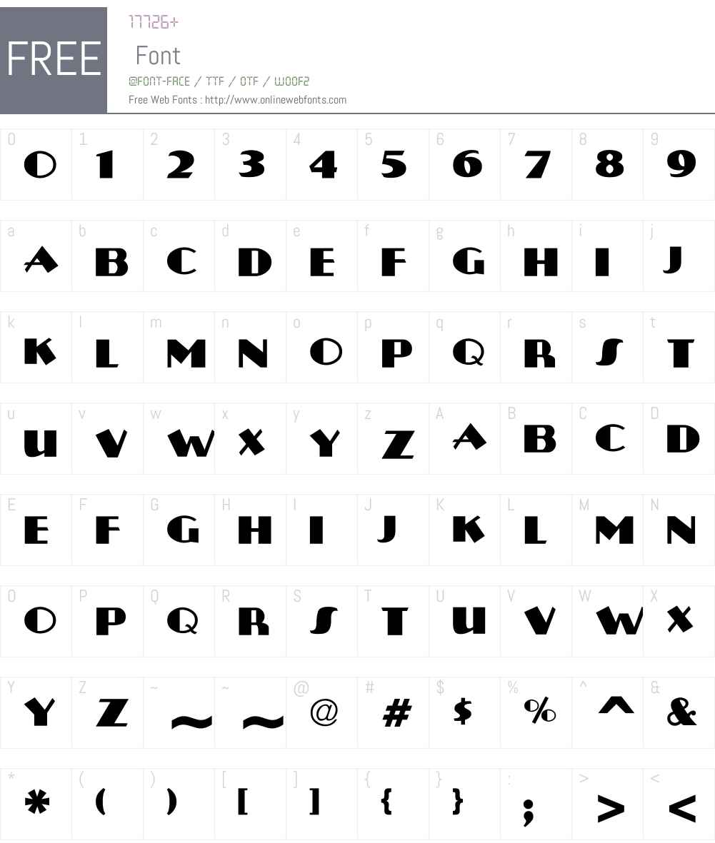 Plug-NickelBlack Font Screenshots