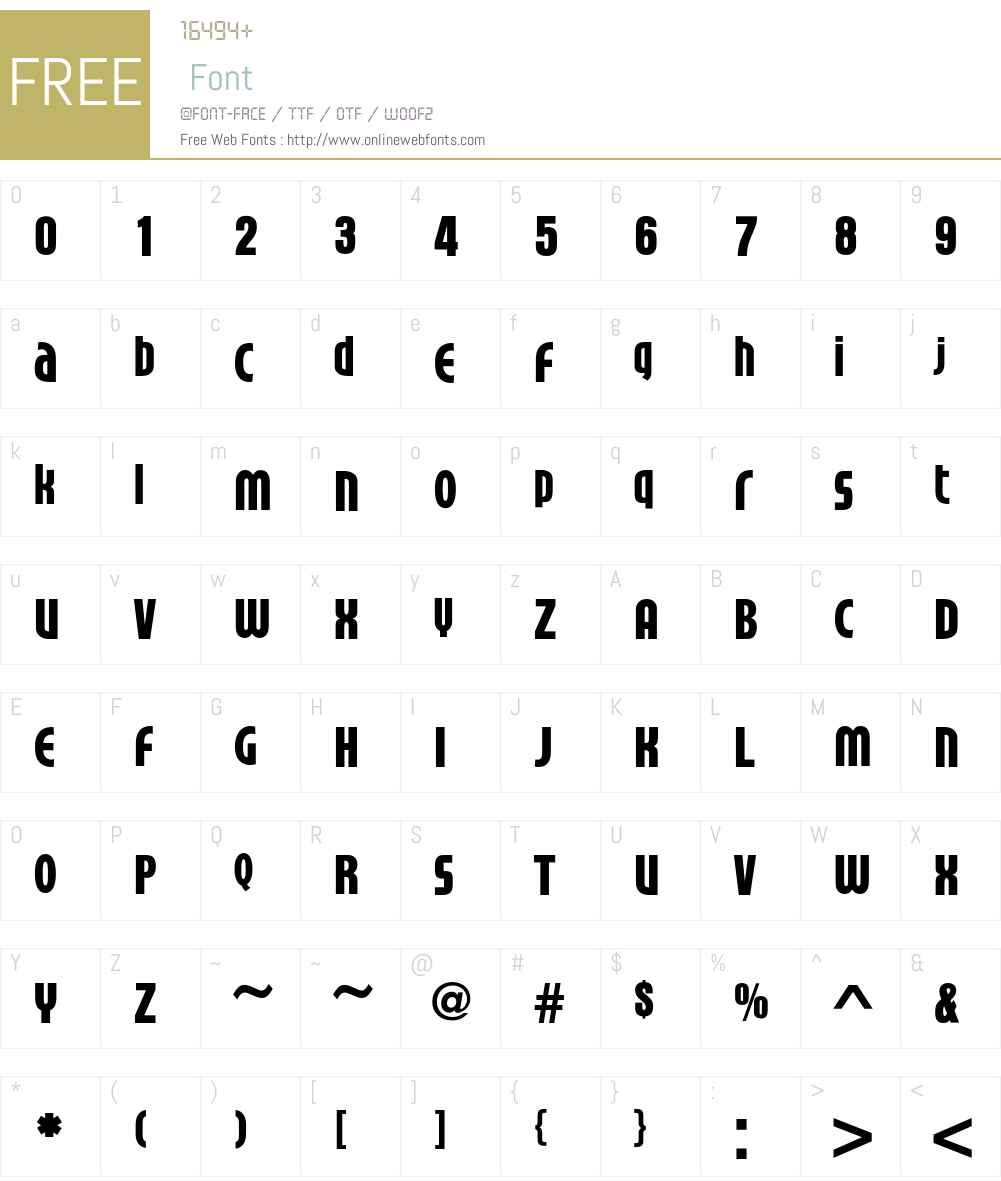 Timbre Font Screenshots