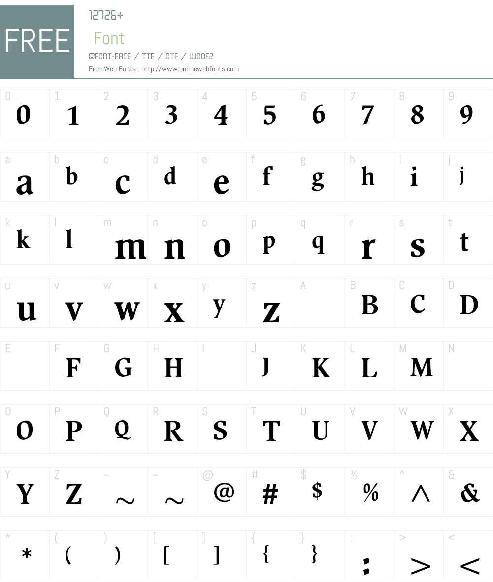 BeckenhamBold Font Screenshots
