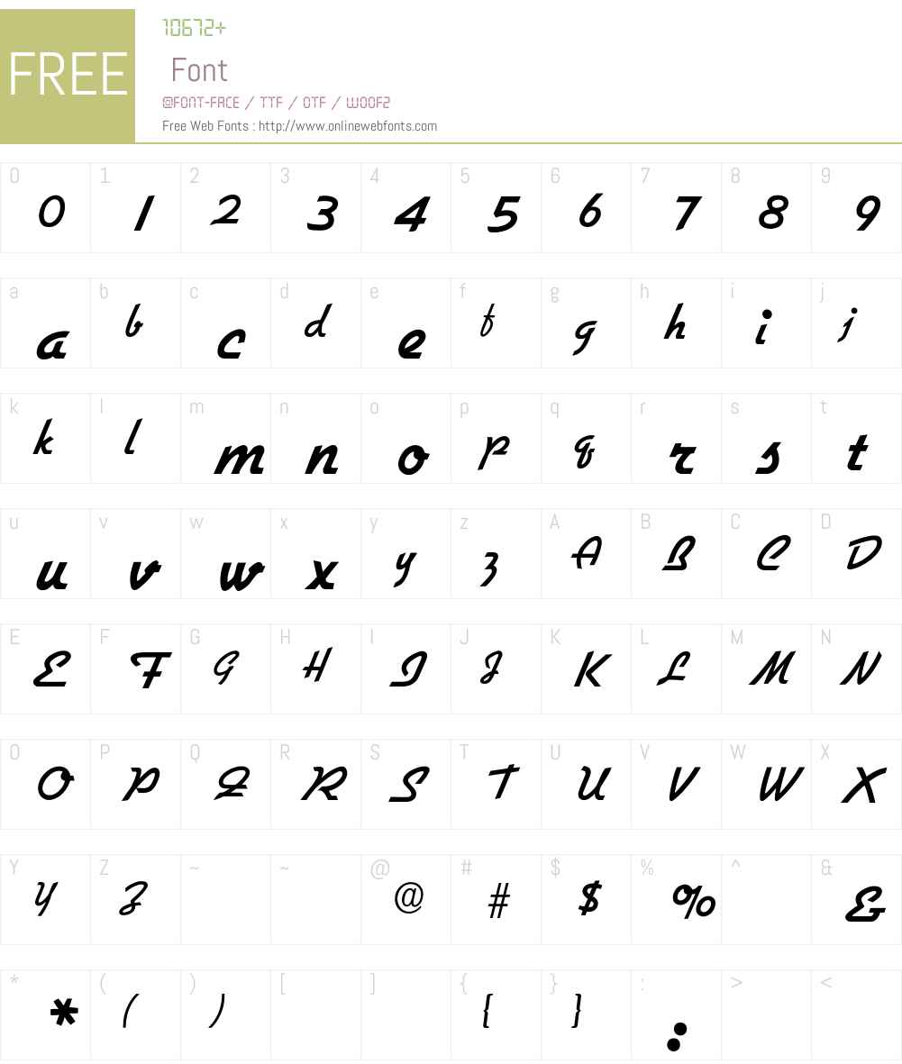 GilliesBold Font Screenshots