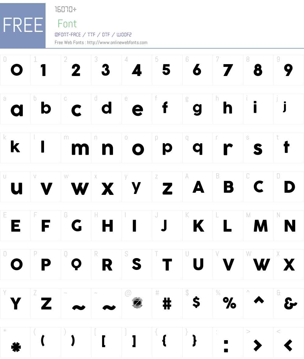 COCOGOOSE Font Screenshots