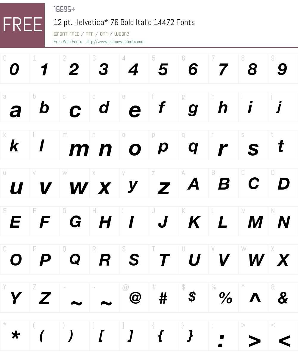 HelveticaNeue Font Screenshots