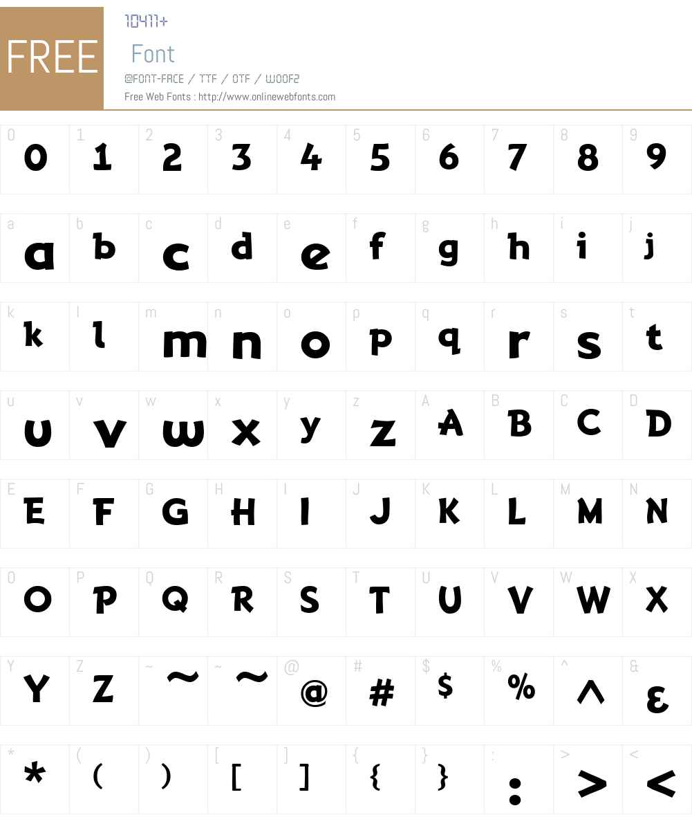 AdventuringW00-Regular Font Screenshots