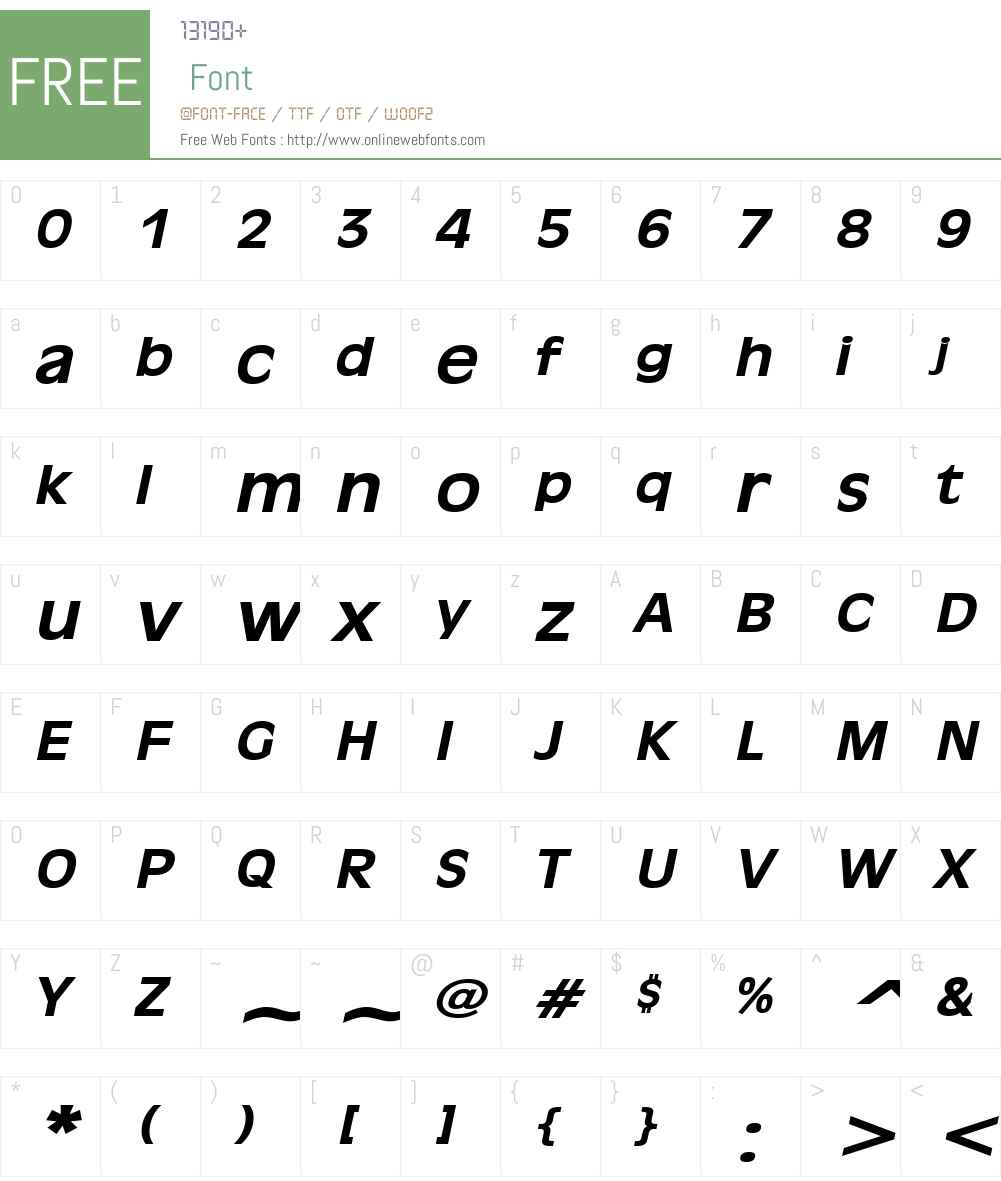 Antiqua 101 Wide Font Screenshots