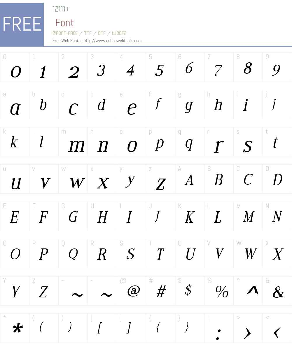 EditoW01-AItalic Font Screenshots