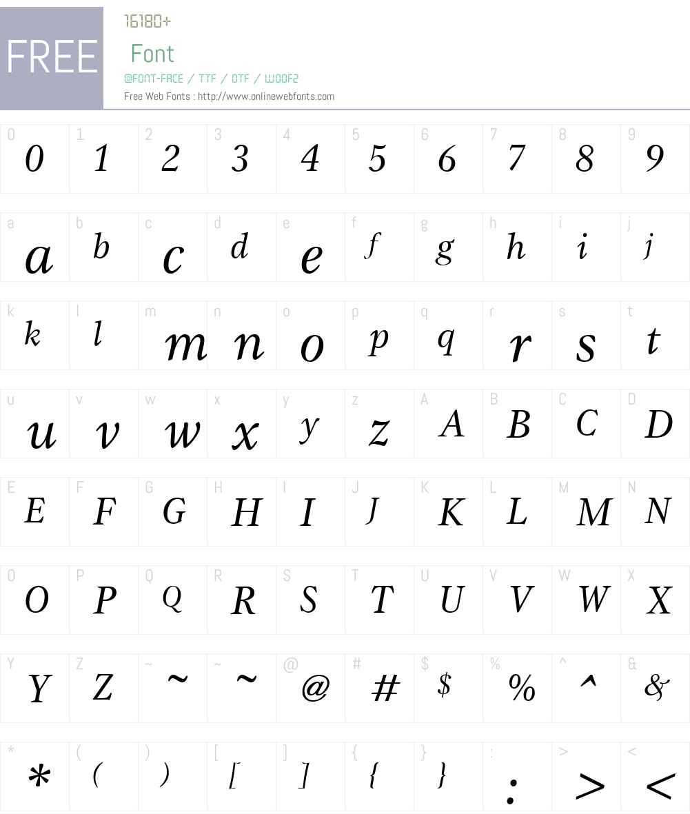 Gamma Font Screenshots