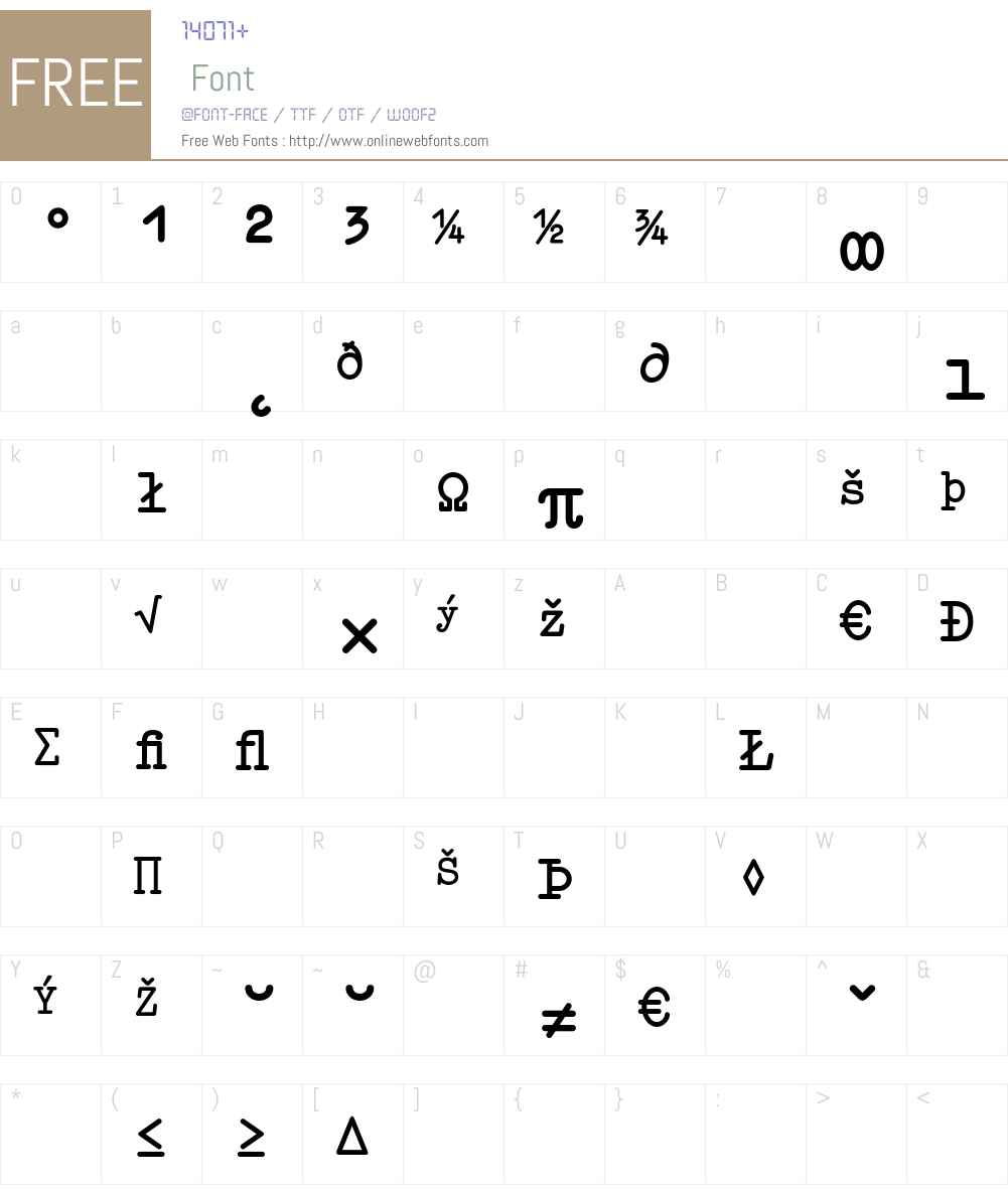 Elementa Expert Font Screenshots