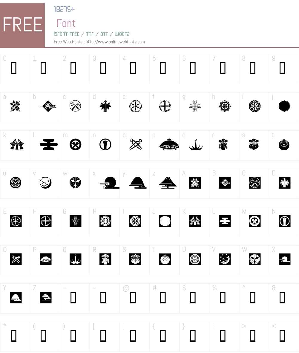 Oriental Icons III Font Screenshots