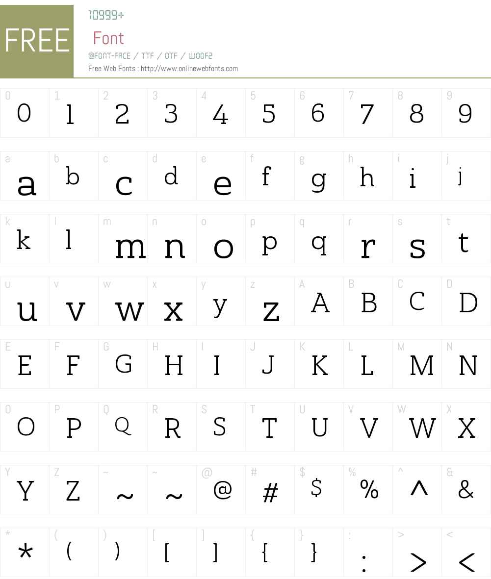 AinslieSlabW01-NormBook Font Screenshots