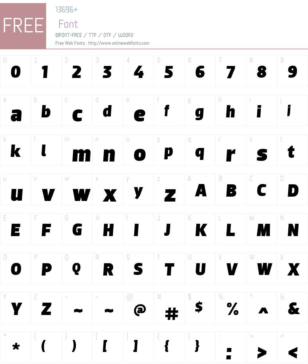 Dobra Font Screenshots