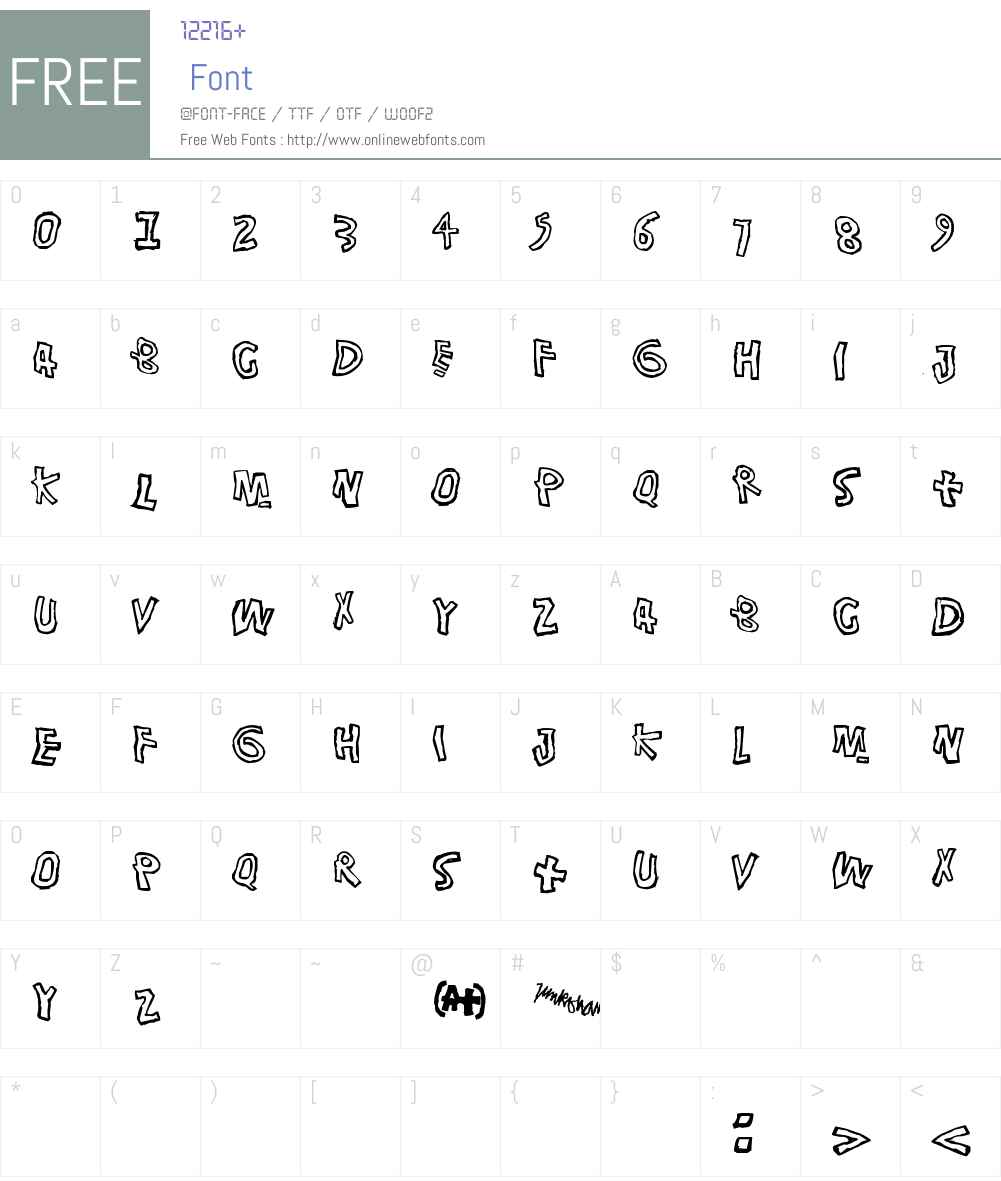 Singalonga Font Screenshots