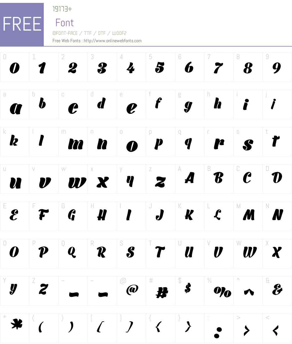 BarracudaScriptBlackW00-Rg Font Screenshots
