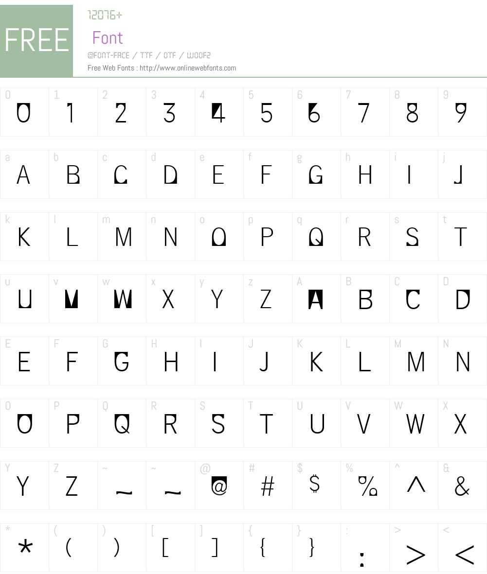 SupersquaredW00-Light Font Screenshots