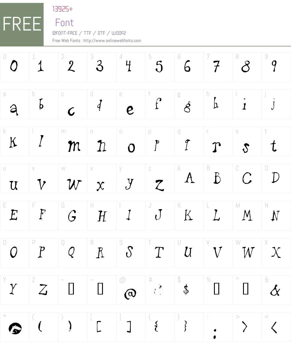 puppetFace Font Screenshots