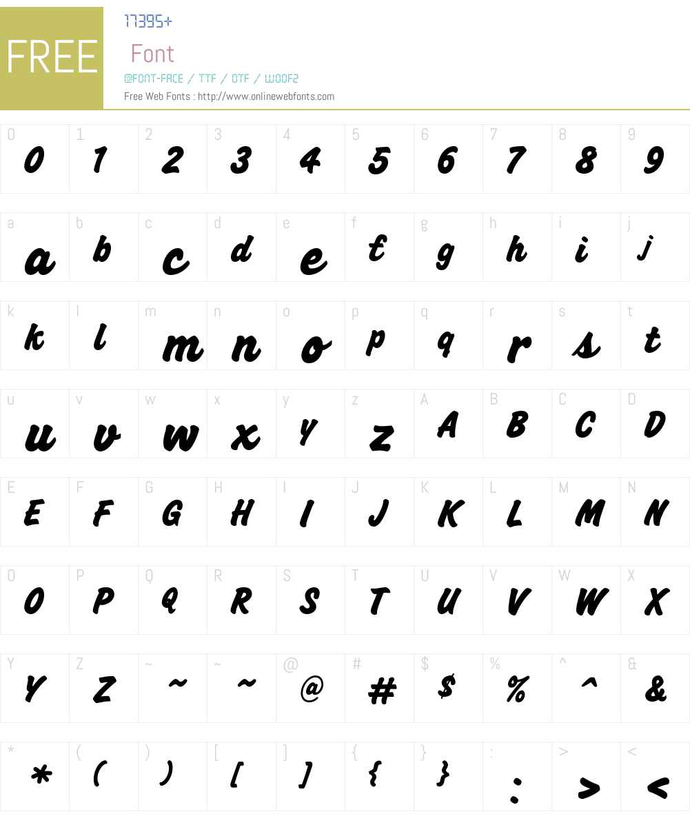 Hutchinson Font Screenshots