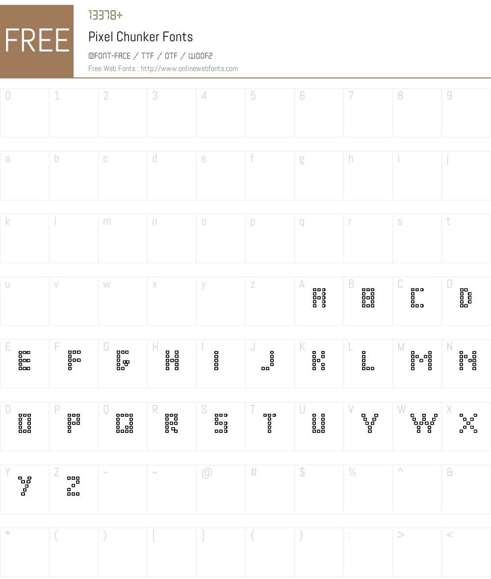 Pixel Chunker Font Screenshots