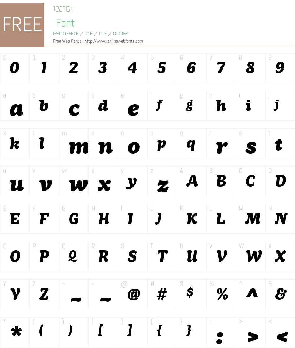 MayonezW01-HeavyItalic Font Screenshots