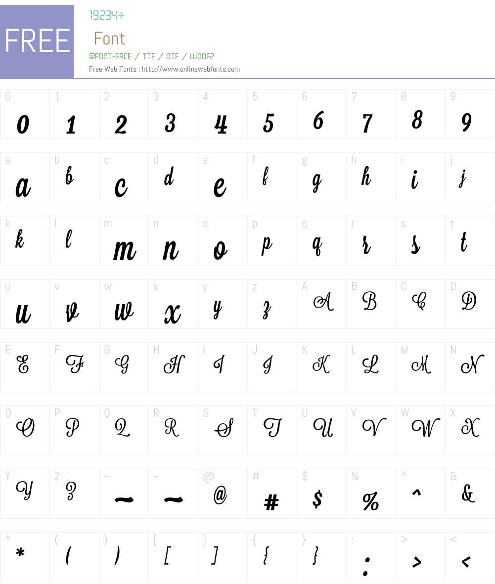 Lavanderia Font Screenshots