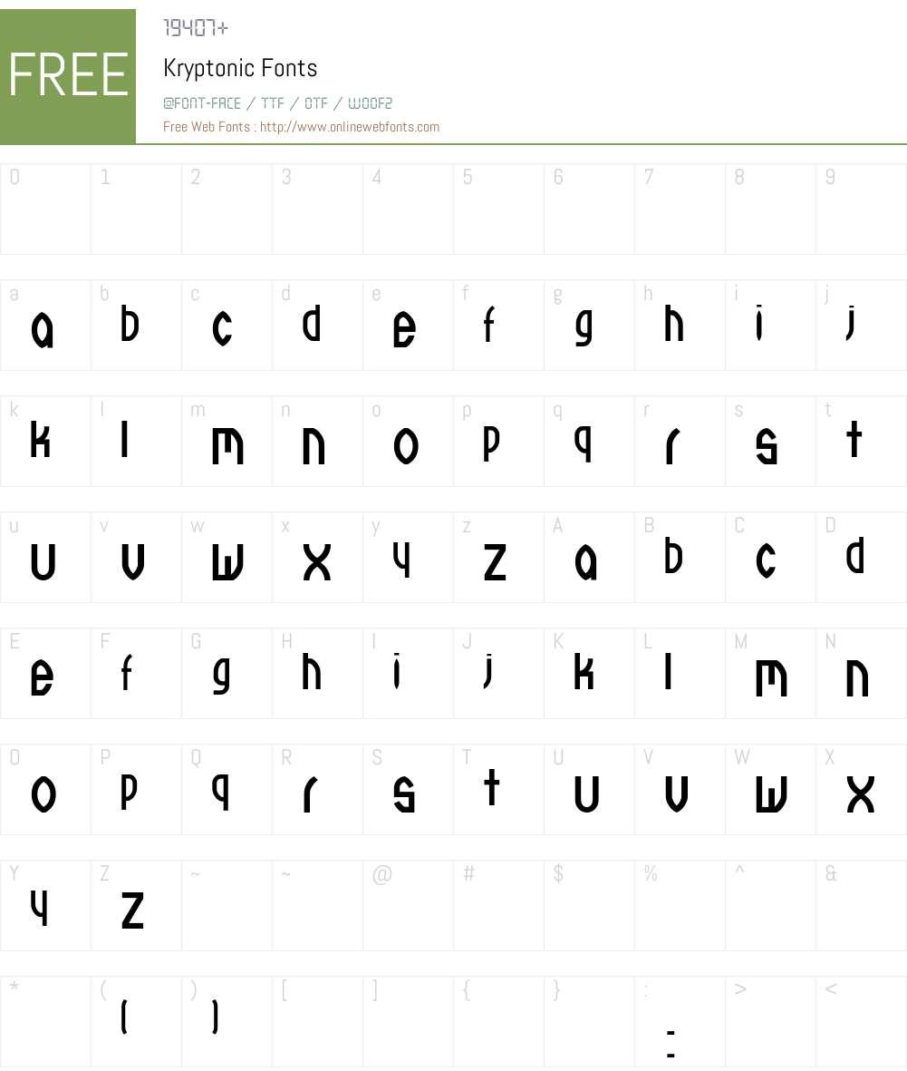 Kryptonic Font Screenshots