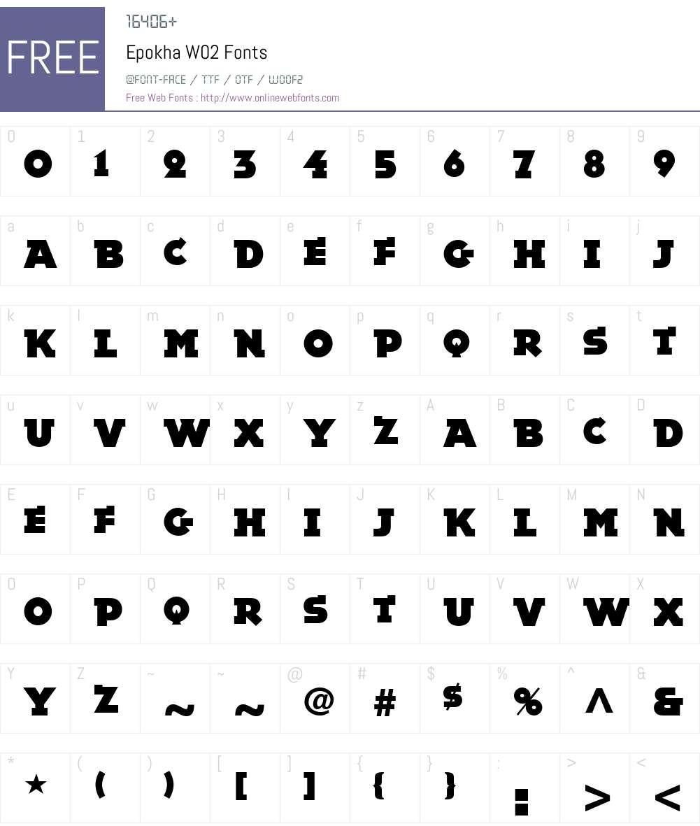 Epokha Font Screenshots