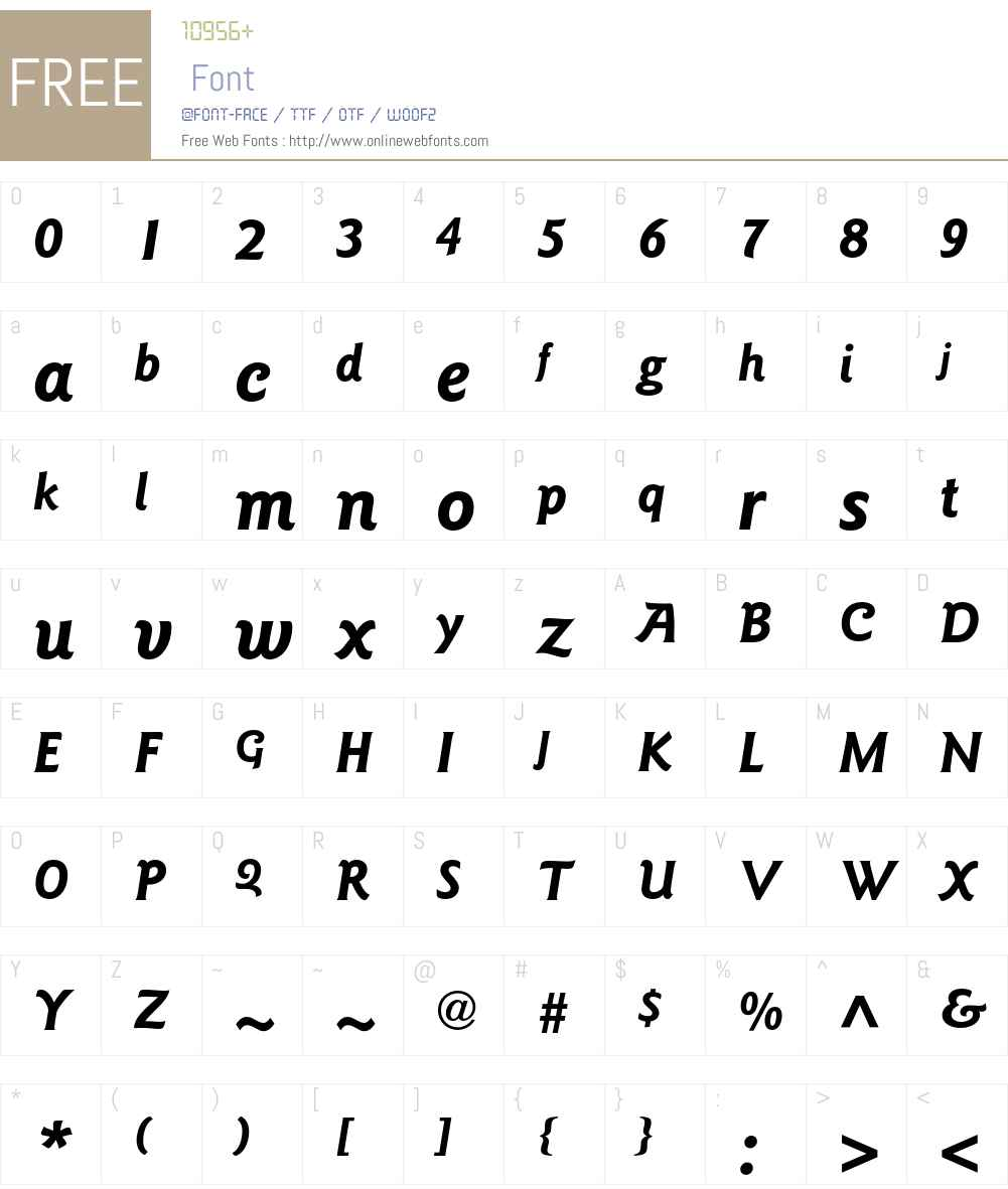 ITC Goudy Sans Std Font Screenshots