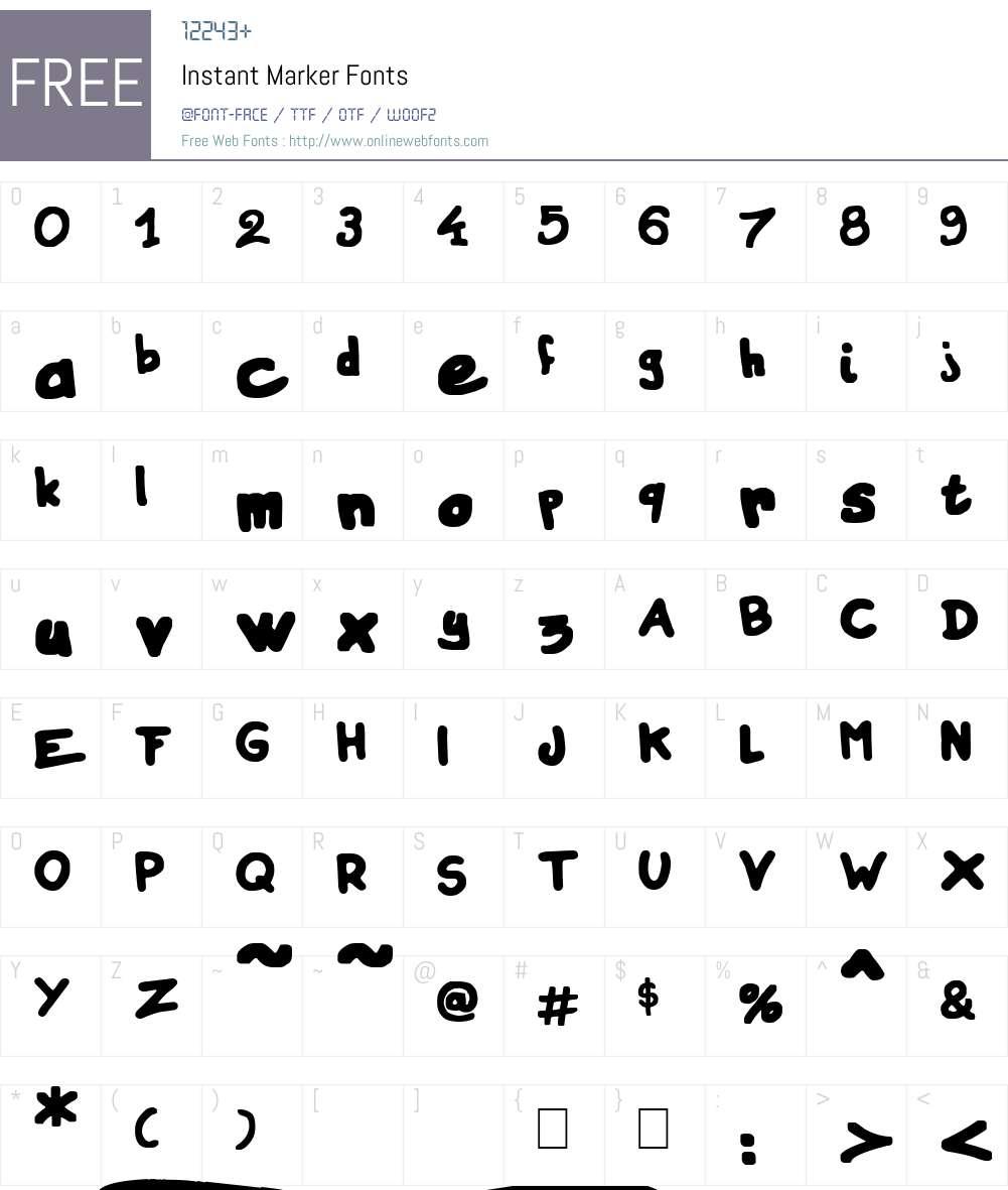 Instant Marker Font Screenshots