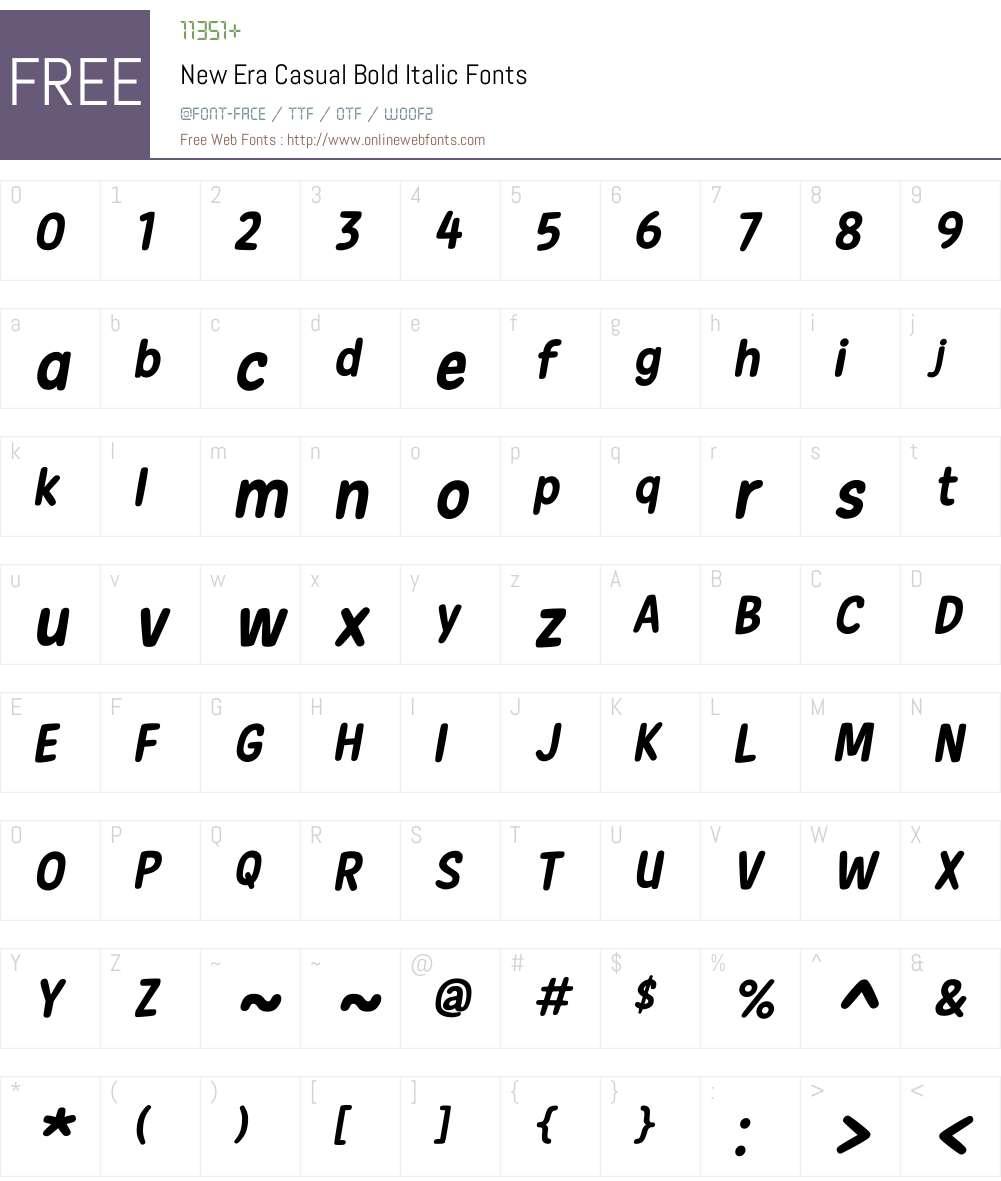 New Era Casual Font Screenshots